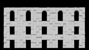 video mapping facade extrude