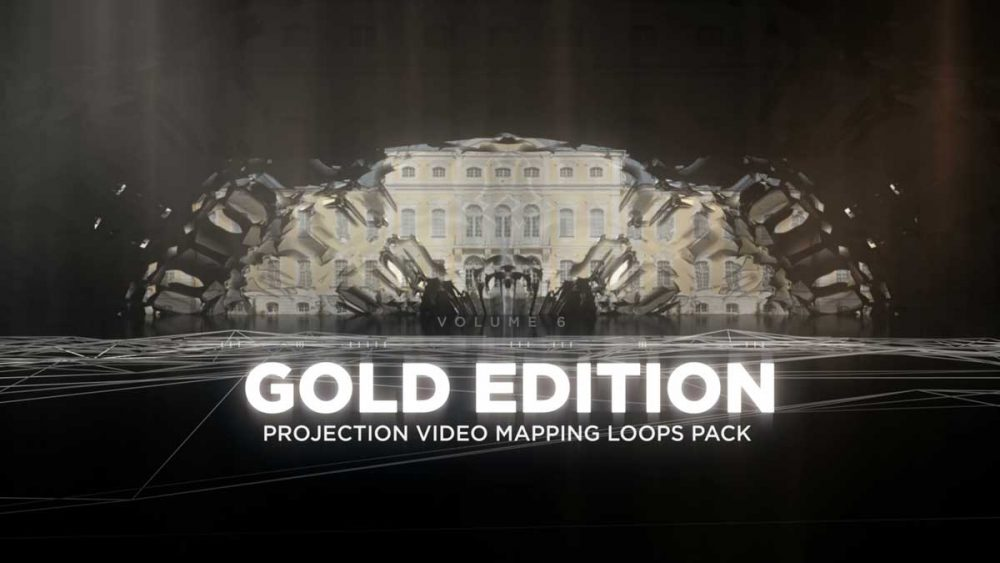 Projection-Video-Mapping-Loops-Gold-collection