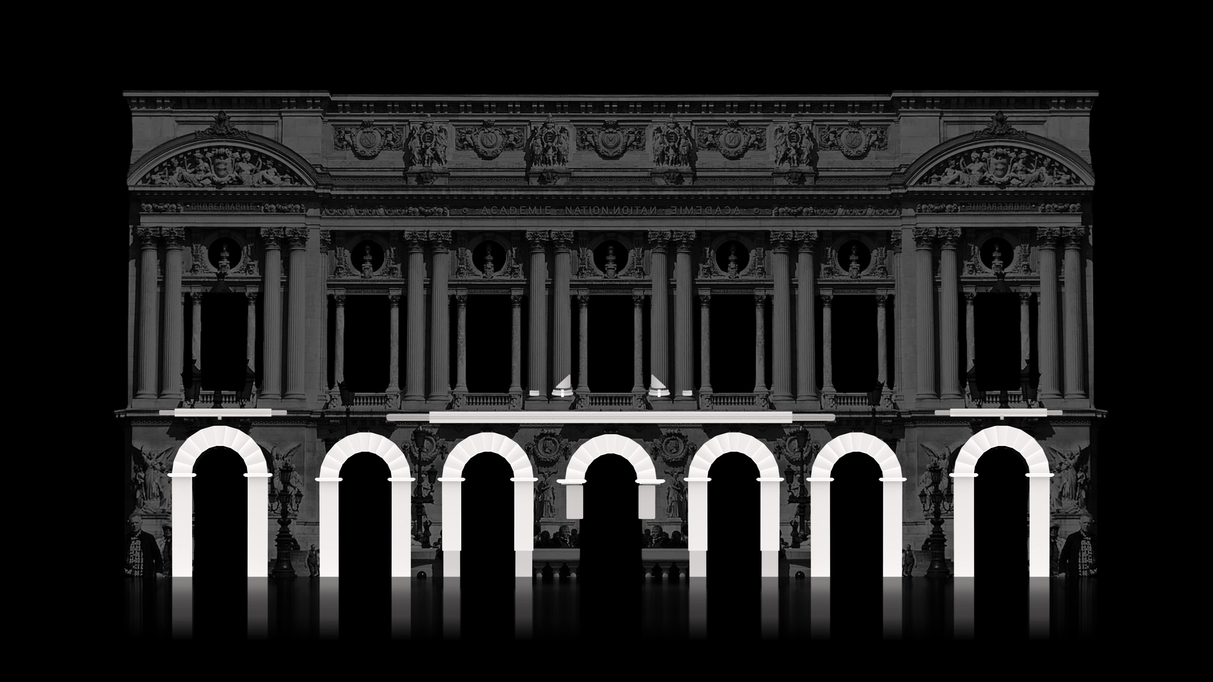 video mapping facade building projection