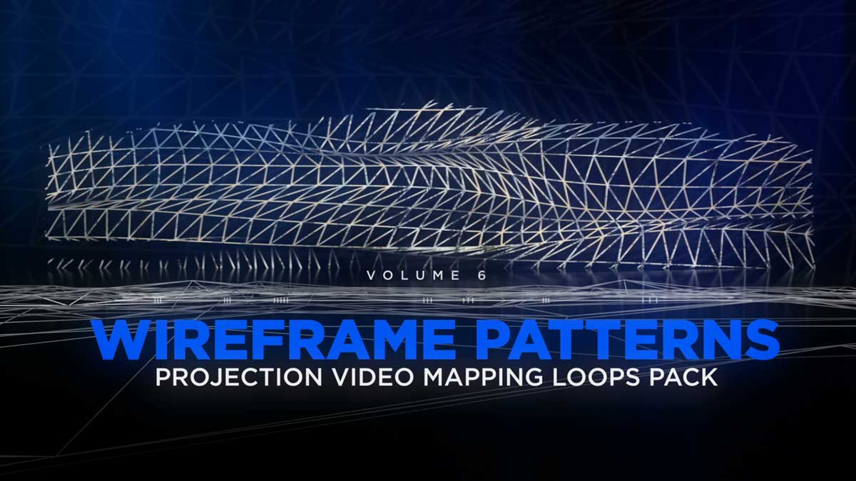 Wireframe-Video-Mapping-Loops-Smart-Reflection