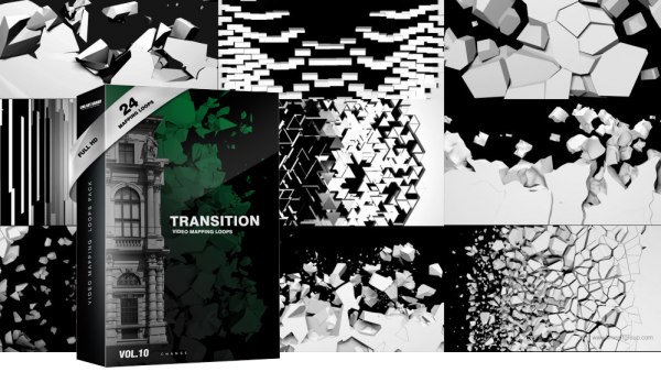 transitions video mapping footage