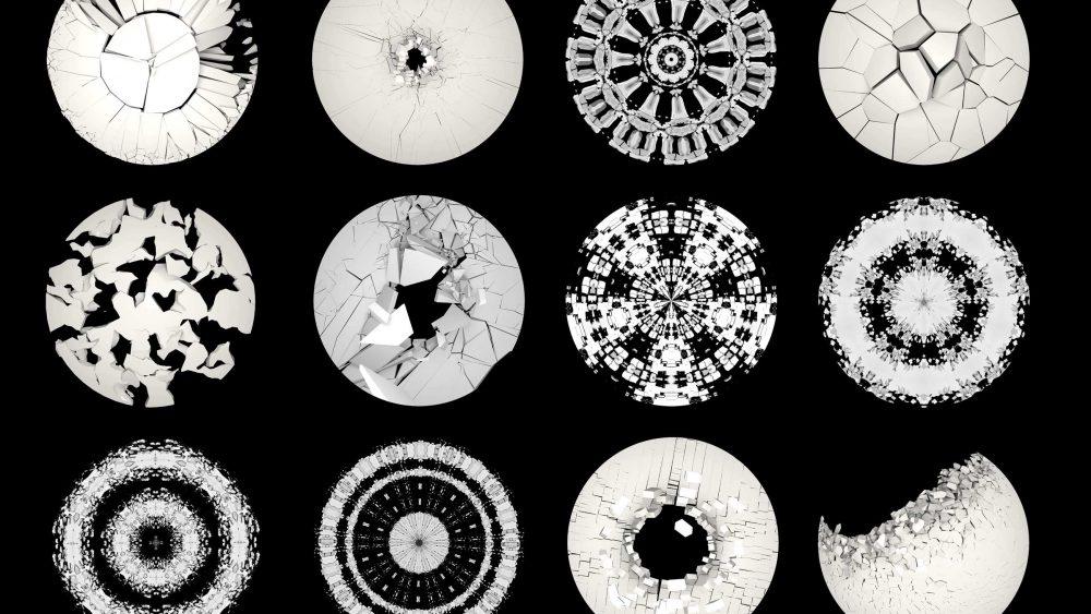 Circle animation visuals fulldome
