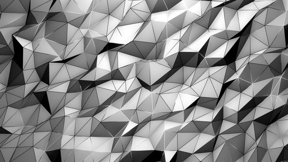 Polygonal art texture video mapping loop