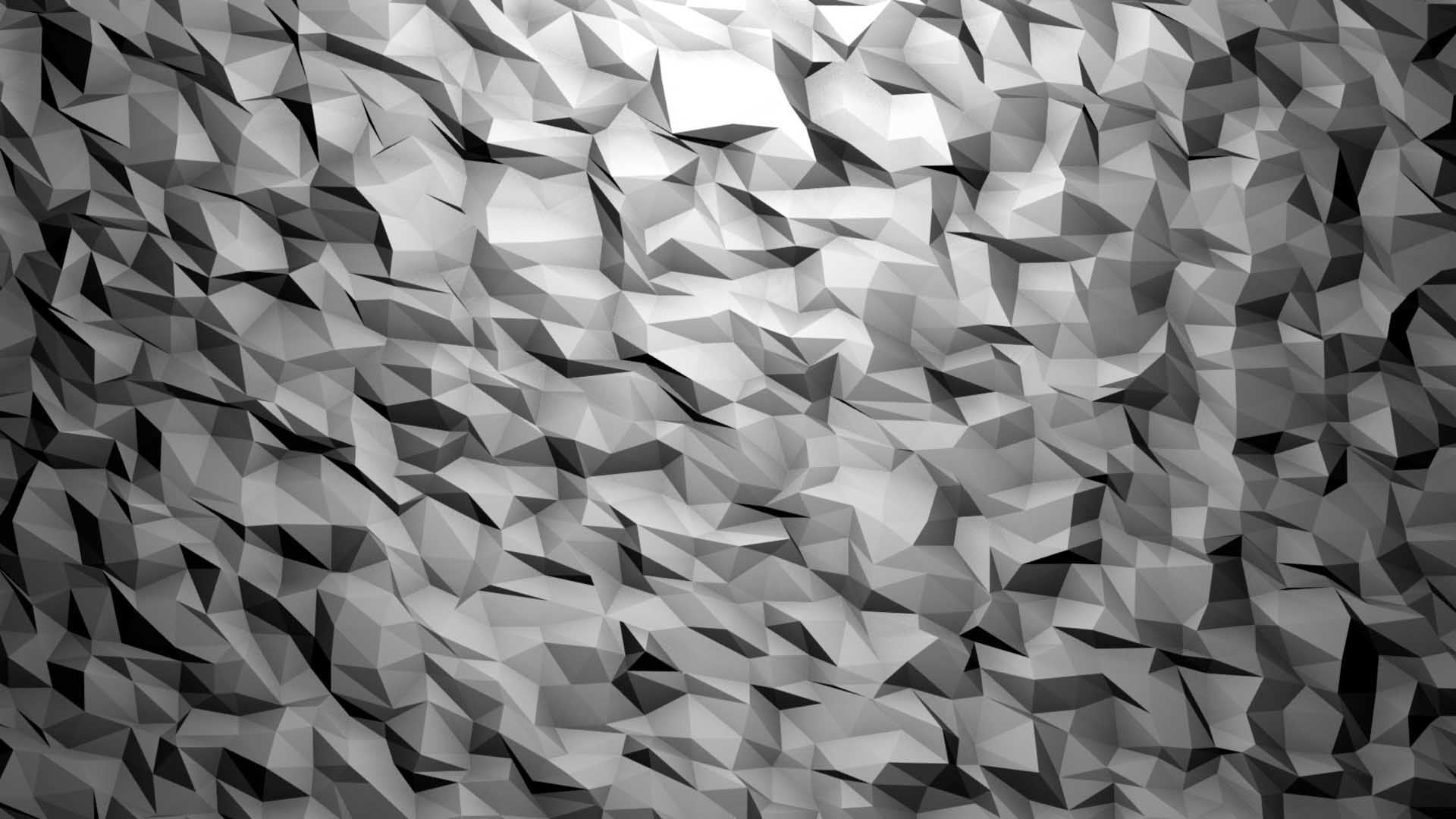 low poly background video mapping