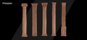 plasticine column