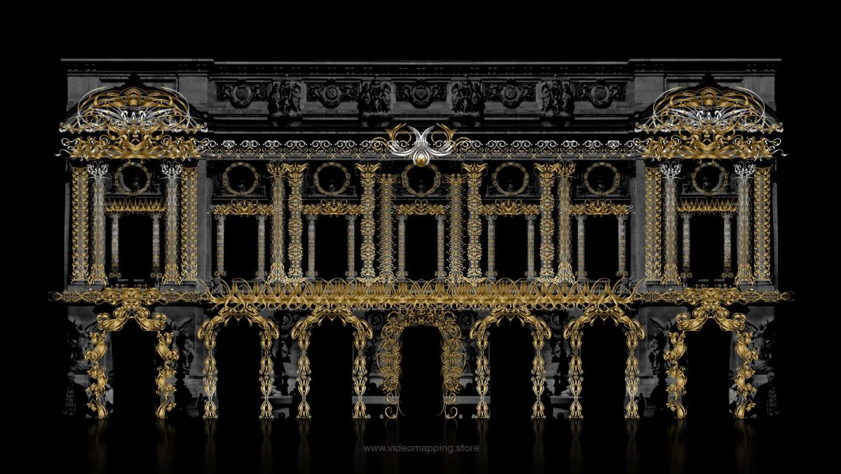 Video Mapping Projection on Architecture