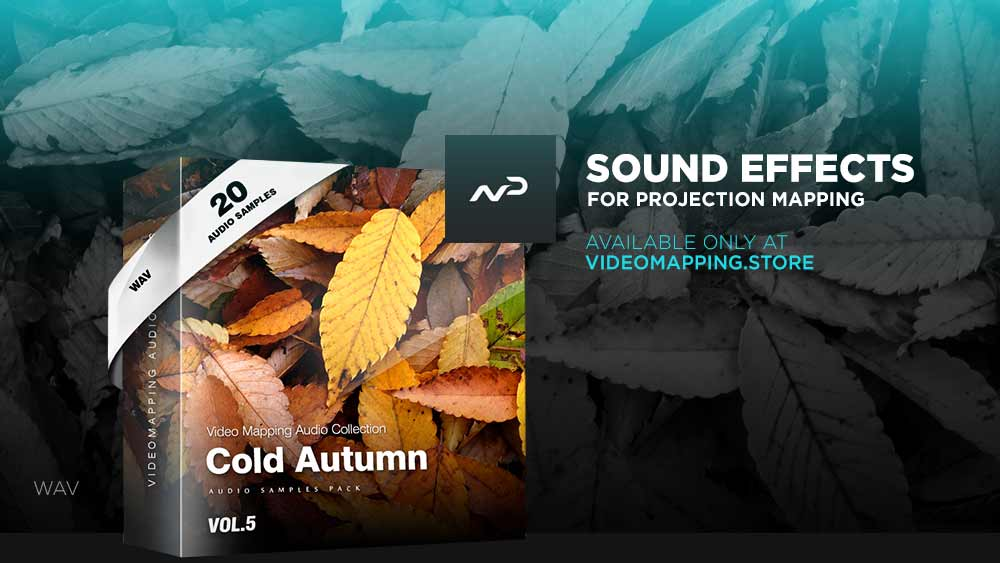 Videomapping-sound-effects-Autumn-leaf