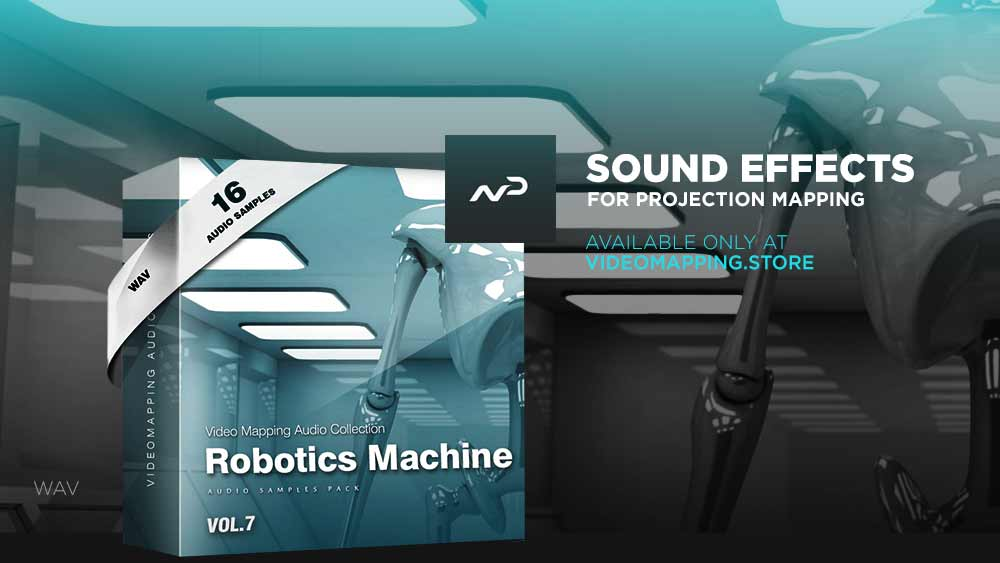 Videomapping-sound-effects-Robotics-Machine