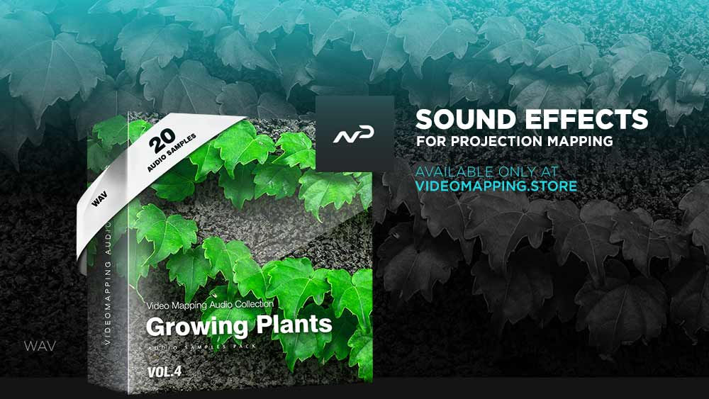 Videomapping-sound-effects-growing-plants