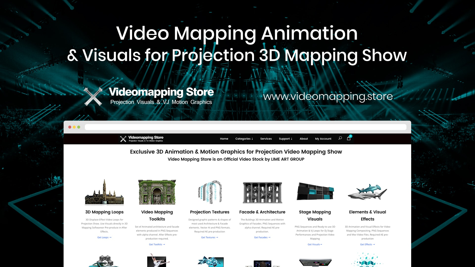 Video Mapping Store - Visual content for Projection Mapping Show