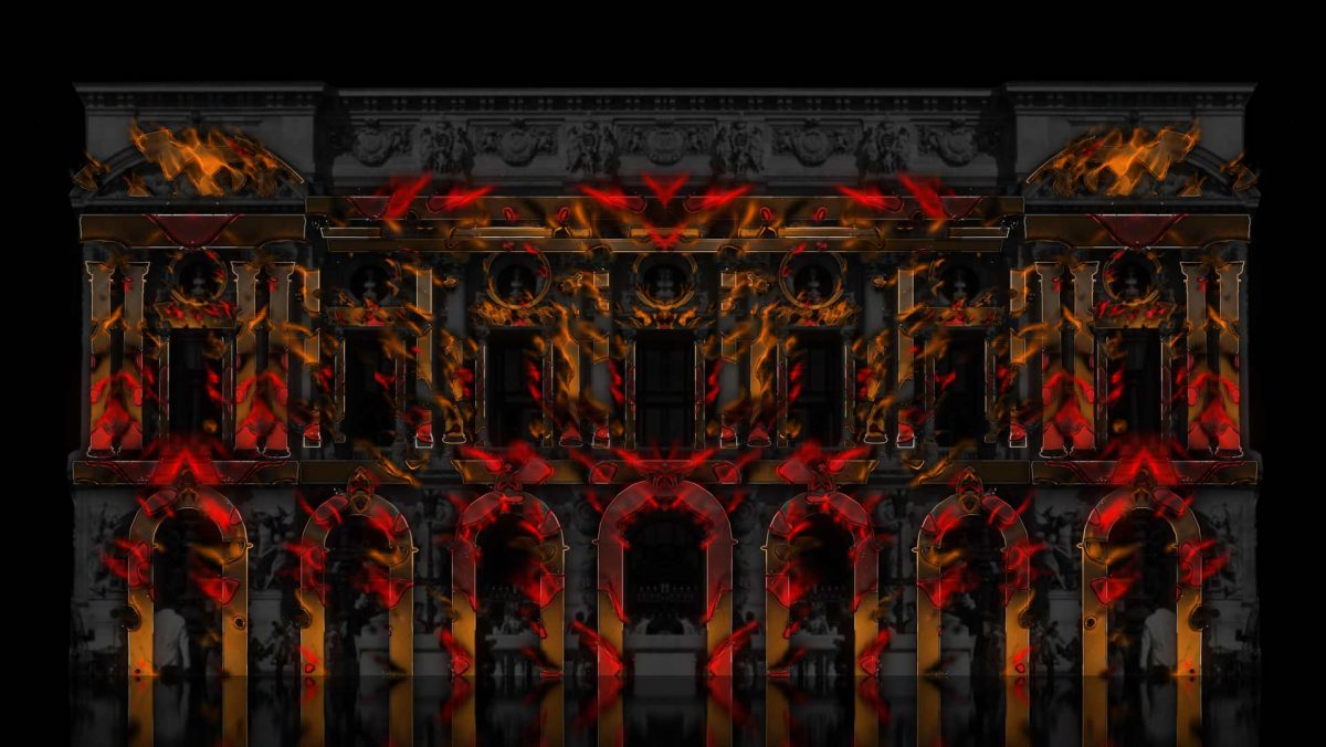 video mapping projection architecture