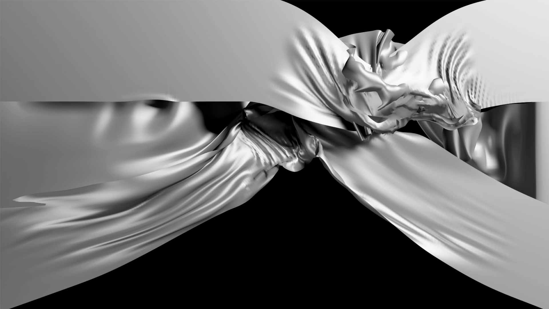 3d white curtain video displacement map