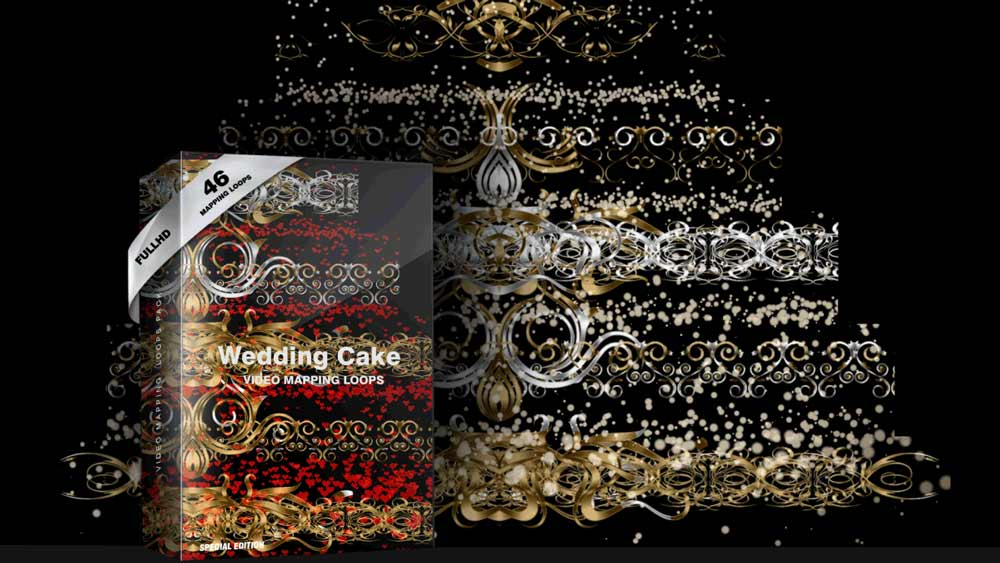 VideoMapping-Wedding-Cake-3D-LoveStory