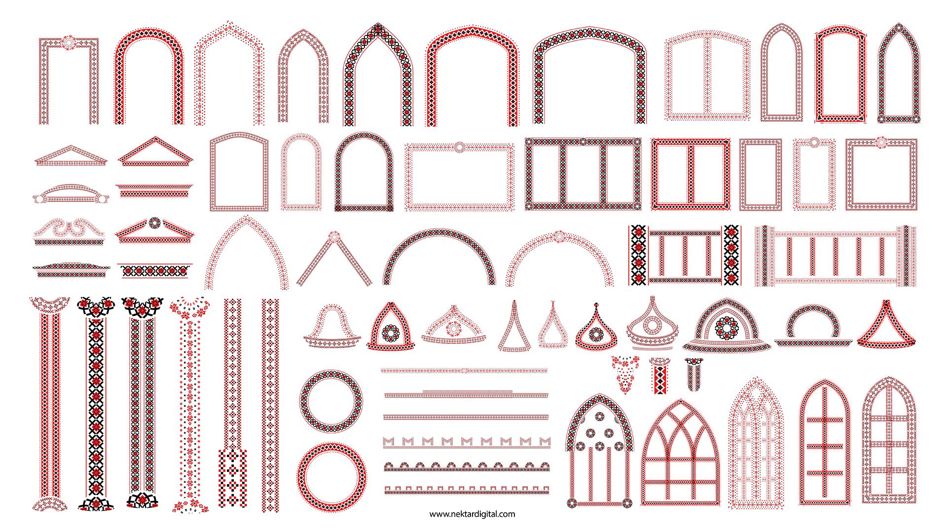 projecttion textures architecture facade element