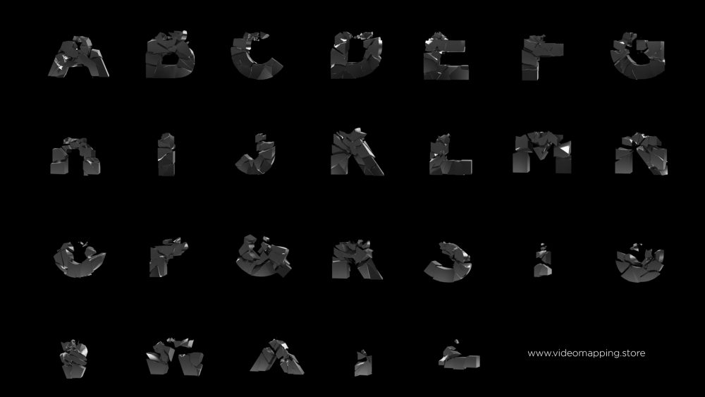 projection mapping typographic