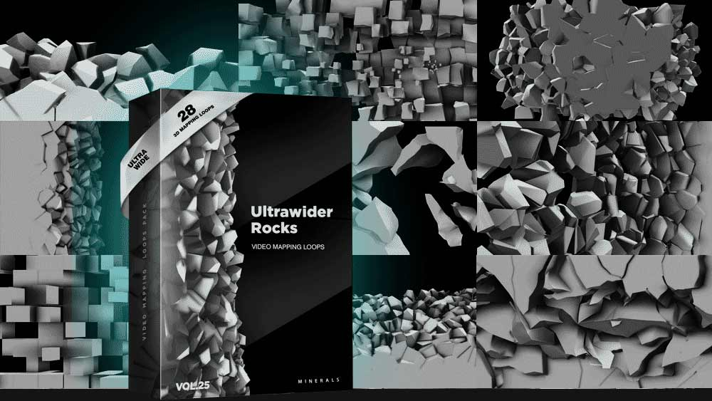 Ultrawide-Rocks-Video-Mapping-Loops-Pack
