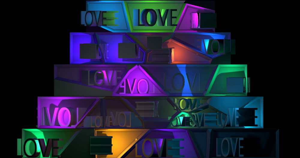 Colorful Party - Video Mapping Wedding Cake Visuals Vol.3