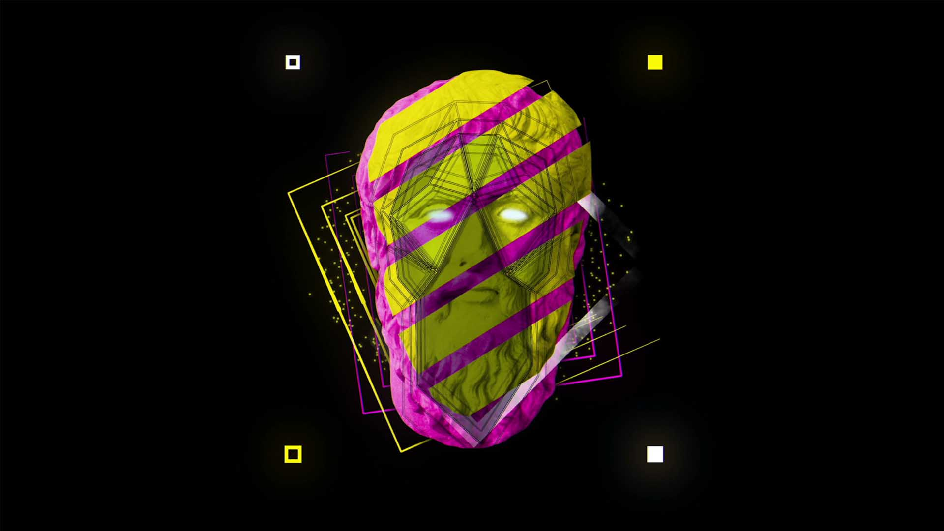 motion graphics head face animation 3D