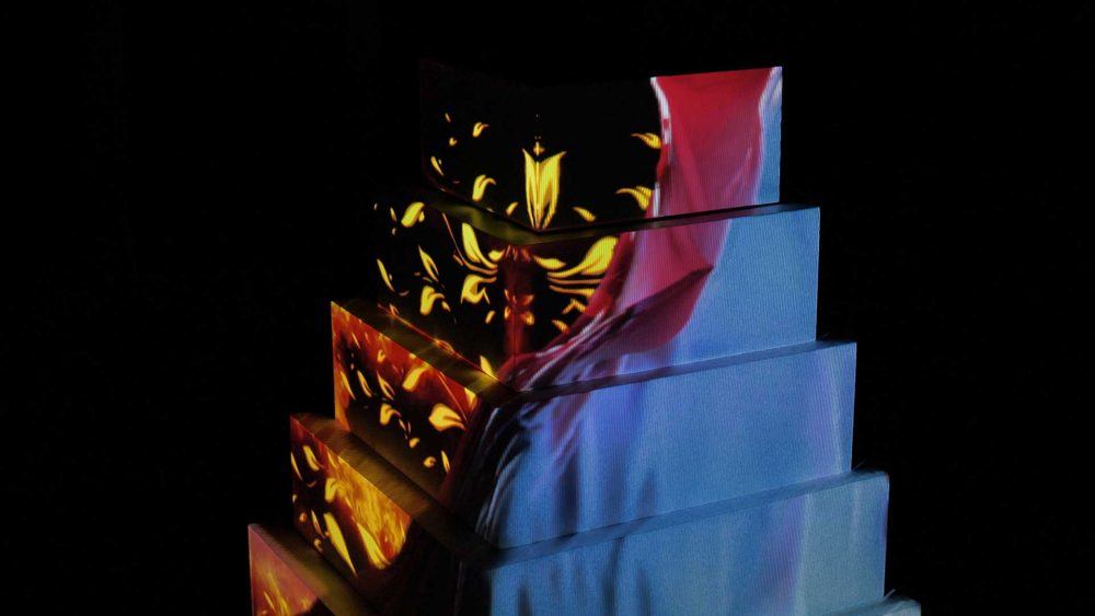 Wedding cake projection mapping