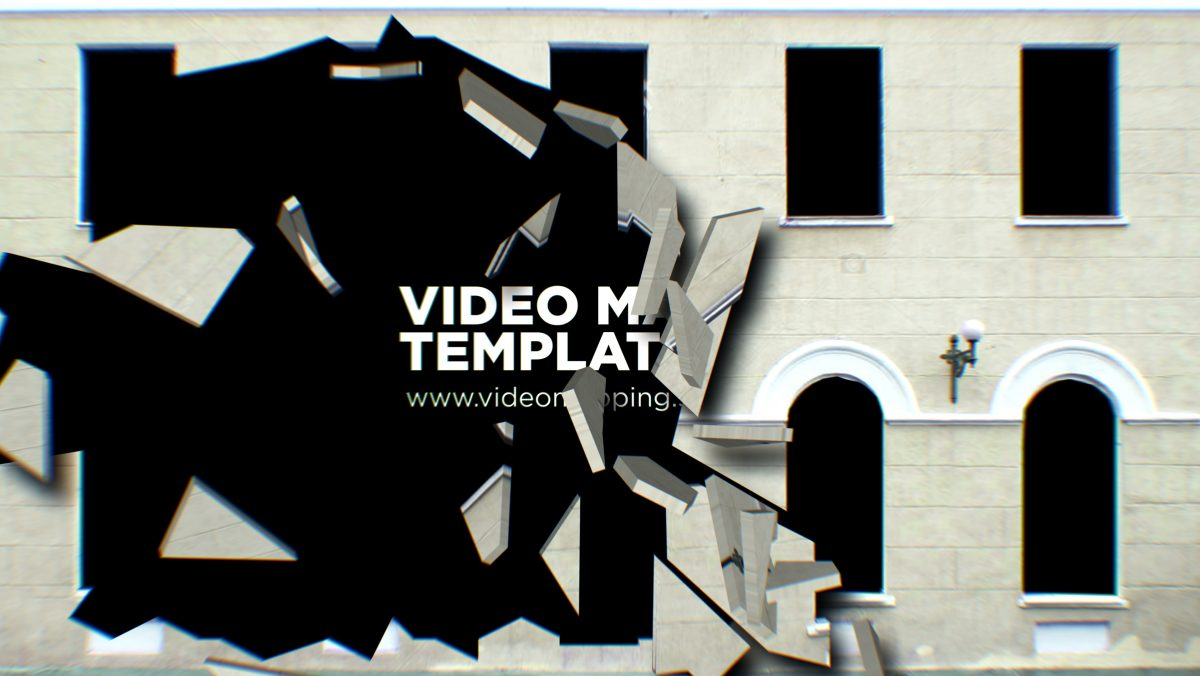 Fallen walls after effects template