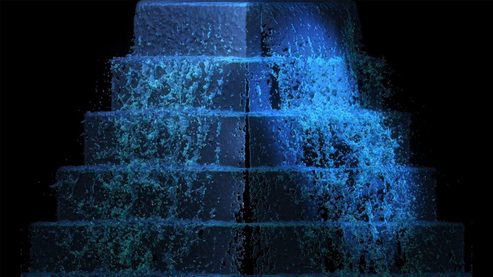 3d mapping wedding cake