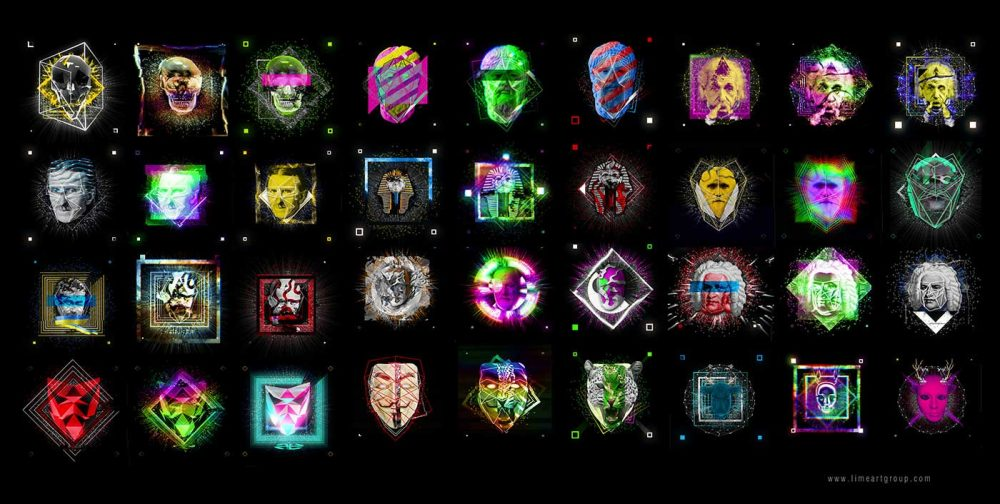 Face animation motio graphics hologram