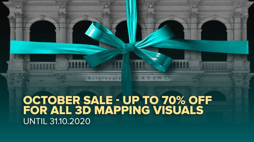 Video-Mapping-Store sale visuals