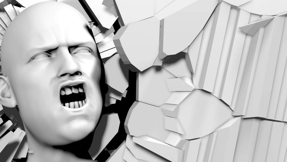 3D Head Projection Mapping Animation