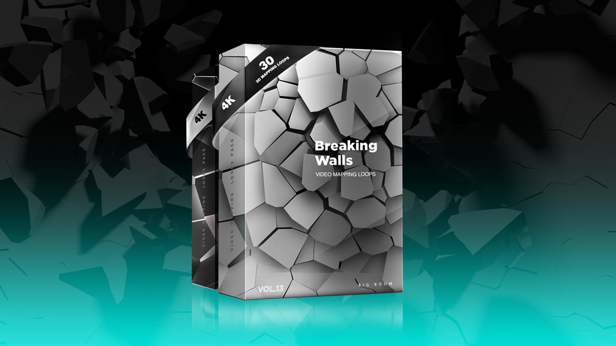 Braking Walls Video Mapping Loops Pack