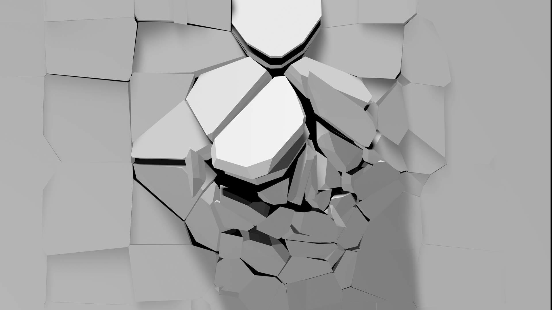 breaking wall video mapping loop