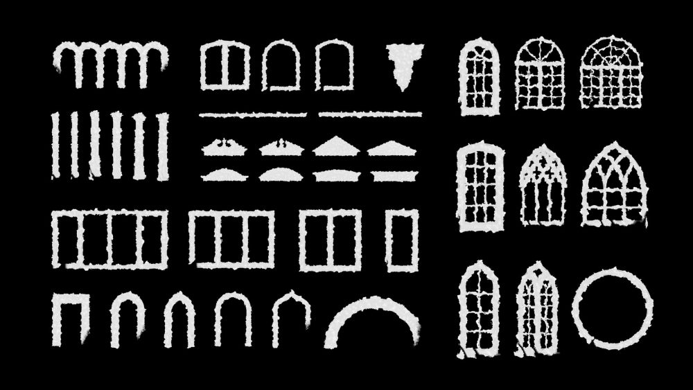 White Ink Stains Video Mapping Toolkit